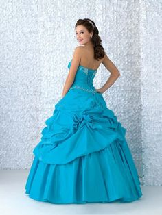Turquoise wedding dress princessey and classic obligatory new fashion strapless turquoise satin wedding dressbridal gownquinceanera dressesbridesmaid dress junglespirit