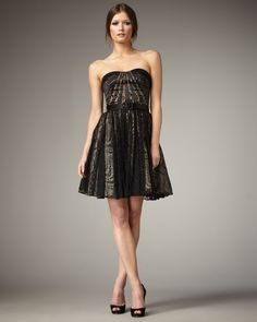 Aidan Mattox Lace-Skirt Strapless Dress, $108 from Neiman Marcus, discovered by http://www.peekabuy.com/?ref=pinit-201305190018d34201a5b85900908db6cae92723617-0006