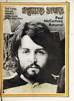 This picture (time period) being used at concert on big screen! #Paul_McCartney on the cover of Rolling Stone