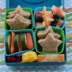 I like the idea of having star shaped fruit and finger sandwiches at the reception...