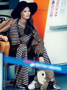 Emilia Nawarecka, Maja Salamon and Karolina Waz Are Jet Setters for Elle Polands November Cover Shoot
