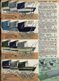 1963 Quelle Kinderwagen by diepuppenstubensammlerin, via Flickr