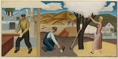 Resources of the Soil (Mural Study, Ukiah, California Post Office) by Ben Cunningham. Search the Smithsonian American Art museum collection, one of the world's largest and most inclusive collections of art made in the United States. Clemente Orozco, Wpa Posters, Office Mural, Art Students League, Ceramic Wall Art, Unique Wall Art, Mural Painting, Teaching Art, American Artists