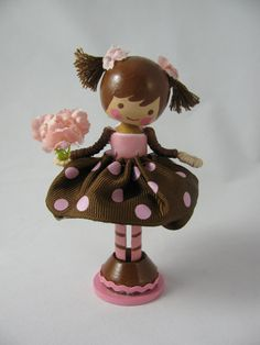 pink and brown for a chocolate cake