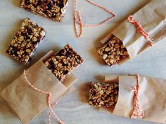 A gluten-free & nut-free bar that celebrates the delicious flavors of Fall. These cranberry pumpkin granola bars are a great snack & make a great gift too.