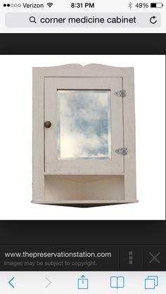 rare salvaged bathroom corner medicine cabinet with beveled mirror shower remodeling