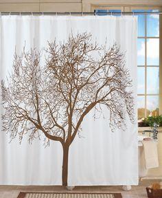 Majestic Tree Bathroom Shower Curtain