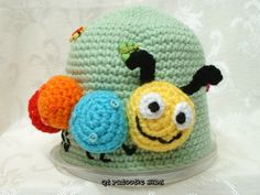 Kirby the Caterpillar Hat - crochet. $24.00, via Etsy. Several sizes available! Pattern will be available on Craftsy soon!