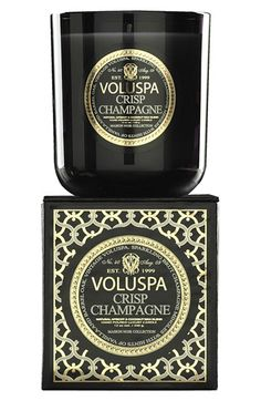Voluspa Maison Noir Crisp Champagne Candle $27...spells nice...musky scent...i have it in my bathroom