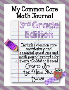 3rd grade go math journal!