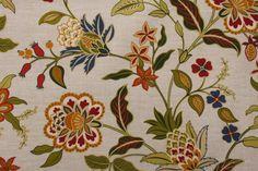 Richloom Solarium Alberta Printed Polyester Outdoor Fabric in Garden $6.95 per yard