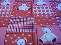 Bright Pink Teddy Bears Fleece Blanket by NorthwoodsNiche on Etsy, $34.95
