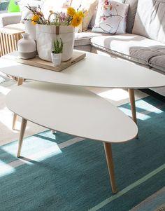 De nieuwe salontafel Flamingo is prachtig door zijn bijzondere vorm met haar berken poten. U kunt de salontafel goed combineren met ronde salontafels!