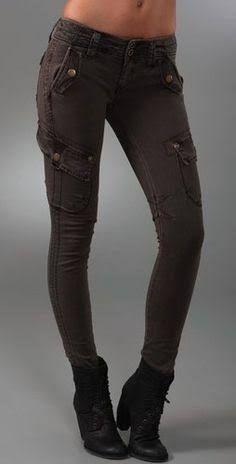 tight black cargo pants women - Google Search