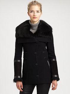 Mackage - Sheepskin/Lambskin-Trim Jacket