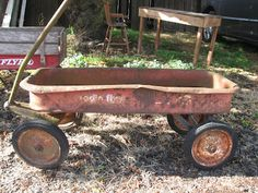 You can't ride in my little red wagon, front wheels broke and the axles draggin'