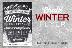Chalk Winter Festival Flyer by Lucion Creative on @creativemarket