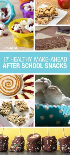 Make after-school snacks easy with these healthy options.