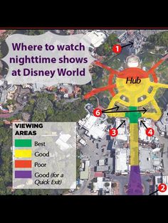 Maps Of Viewing Areas For All The Major Nighttime Shows At Disney World    Epcot, Hollywood Studios, Magic Kingdom U0026 Animal Kingdom