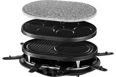 Raclette Et Fondue Russell Hobbs - Fondue - Achat & prix Russel Hobbs, Crepes, Cooking Appliances, Kitchen Appliances, Fondue, Cooking Stone, Perfect Portions, Barbecue Grill, Tiny Living