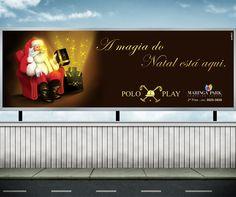Criação da Amblard - Magia do Natal - Polo Play essa campanha foi para 3 cidades.