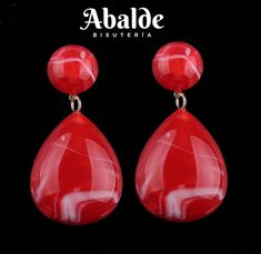 8b329f251cec Detalles de Pendientes Joya Mujer Klein ZA Accesorio Tendencia Negro Rojo  Regalo idea Pareja
