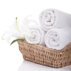 How to Roll Towels Spa-Style