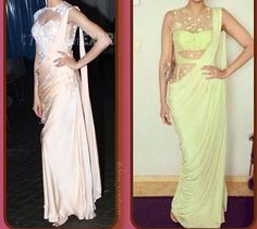 Saree gowns