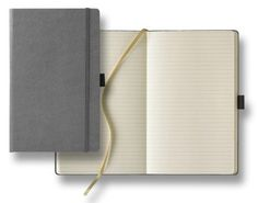 The Medium Ivory Journal includes a pen loop, an elastic closure, and 240 lined ivory paper pages. Size 5 x 8 inches. Deboss Imprint Included with Your Purchase Custom Journals, Gold Ribbons, Foil Stamping, Markers, Ivory, Top, Stampin Up, Sharpies, Sharpie Markers