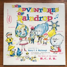 The Adventures of Raindrop Vinyl LP Diadem Productions Nancy F. A. Woolnough Children's Record Story Religious Xian by vintagebaron on Etsy