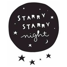 White Mint Starry Night Wall Stickers (£9) ❤ liked on Polyvore featuring text, filler, phrase, quotes and saying