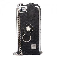 Funda iPhone 8 elegante piel de tilapia. Finger 360 #funda #tilapia #anticaidas #anillo #Finger360 #negro #piel #8s #iphone8