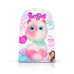 Pomsies are loveable, fashionable, interactive pom Pom pets You can take anywhere. Two Pomsies interactive plush toys Blossom and Patches. Each Pomsies pet includes a brush to keep their fur soft and pretty. Toys R Us, Freeze Dance, Virtual Pet, Interactive Toys, Best Birthday Gifts, Gifts For Girls, Cool Toys, Baby Toys, Pet Toys