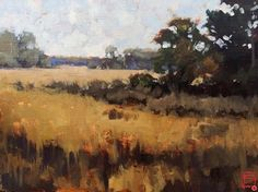 Marsh, Fall by David Boyd Oil ~ 9 x 12