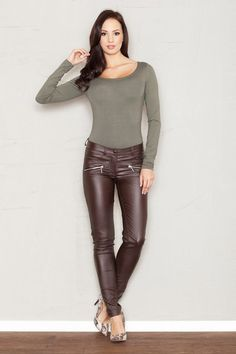 Brown matched women's pants