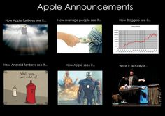 How Apple announcements really are