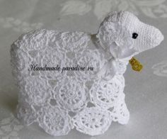 Easter, decorations crochet on Stylowi. Crochet Birds, Easter Crochet, Thread Crochet, Crochet Animals, Crochet Crafts, Crochet Stitches, Free Crochet, Easter Projects, Easter Crafts