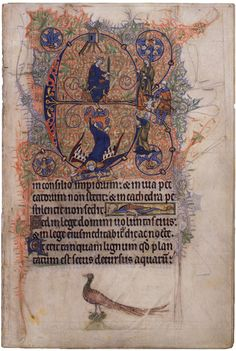 Initial E with Judgment of Solomon and Windmill From the Windmill Psalter East Anglia, England, late 13th century The Pierpont Morgan Library, New York, M.102