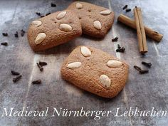 Lebkuchen have been made in Nuremberg since medieval times. This recipe for Nürnberger Lebkuchen (Nuremberg Lebkuchen) is from 1553! Isn't that awesome? 😀  >>> CLICK TO PIN THIS RECIPE <<<   Lebkuchen have a long tradition in Nuremberg. The first Lebküchner (Lebkuchen maker) was recorded in 1395 in Nuremberg.Medieval Lebkuchen were made … Continue reading Medieval Nürnberger Lebkuchen Recipe → Traditional Lebkuchen Recipe, Medieval Recipes, Medieval Times, Baking Recipes, Desserts, Dessert Recipes, Food And Drink, Gingerbread Cookies, German Recipes