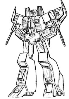 starscream transformers coloring page - Transformers Coloring Pages