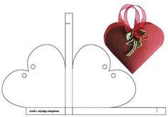 Heart shaped template box - Russian