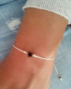 Star bracelet, Wish bracelet, Friendship bracelet, Sterling silver bracelet, Gift jewelry Stern Armband Wunscharmband Freundschaftsarmband Sterling Cute Jewelry, Jewelry Gifts, Beaded Jewelry, Women Jewelry, Turquoise Jewelry, Diy Jewelry, Gold Jewelry, Jewelry Box, Wish Bracelets