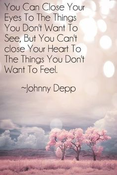 sad love quote: you can't close your heart to the things you don't want to feel - love images