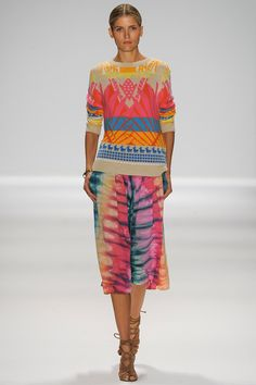 Tribal/tie dye Mara Hoffman Spring 2014 Ready-to-Wear Collection Slideshow on Style.com