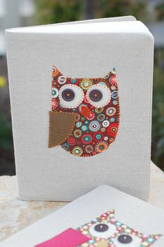 all things simple: crafts; Owl Notebook