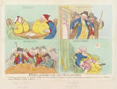 """James Gillray, """"Vices overlook'd in the new proclamation'"""" - Dorothy Jordan in lower right, May 1792, hand-coloured etching"""