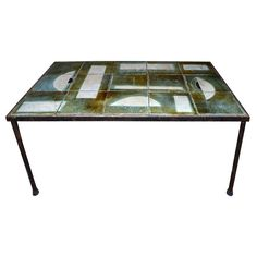 1950s Coffee Table by Les 4 Potiers