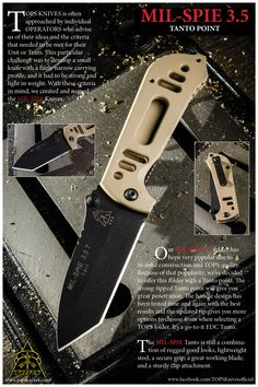 08e941657b6 MIL-SPIE 3.5 Tanto Point Because you our friends asked for it! Now the  MIL-SPIE 3.5 comes with a TANTO Point. ENJOY!