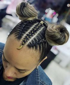 When in doubt, go blonde 💁🏼♀️ Girls Natural Hairstyles, Bun Hairstyles For Long Hair, Baddie Hairstyles, Little Girl Hairstyles, Cute Hairstyles, Braided Hairstyles, Natural Hair Styles, Long Hair Styles, Edges Hair