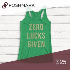 New Women's St. Patrick's Day Racerback Tank New Women's St. Patrick's Day Tank  * 50% polyester, 25% combed ringspun cotton, 25% rayon jersey * 4.3 oz. * 32 singles * Fabric laundered for reduced shrinkage * Satin label Tops Tank Tops